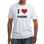 I Love Poems Fitted T-Shirt