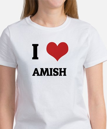I Love Amish Women's T-Shirt