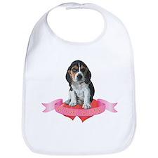 Beagle Valentine Bib
