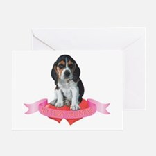 Beagle Valentine Greeting Card
