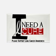 I Need A Cure LUNG CANCER Rectangle Magnet