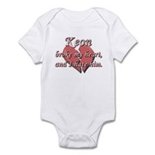 Keon broke my heart and I hate him Infant Bodysuit