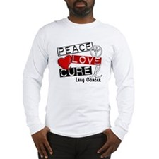 PEACE LOVE CURE Lung Cancer (L1) Long Sleeve T-Shi