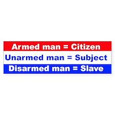 Armed Man bumper sticker