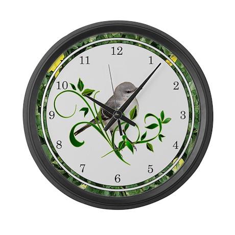 Mockingbird Large Wall Clock