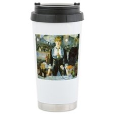 Manet, A Bar at the Folies-Bergere Travel Mug
