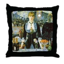 Manet, A Bar at the Folies-Bergere Throw Pillow