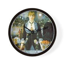 Manet, A Bar at the Folies-Bergere Wall Clock