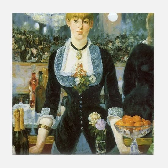 Manet, A Bar at the Folies-Bergere Tile Coaster