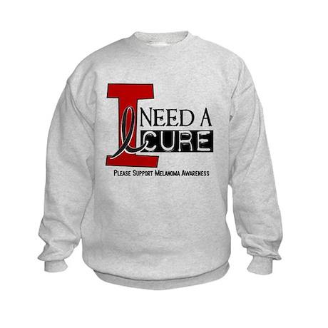 I Need A Cure MELANOMA Kids Sweatshirt