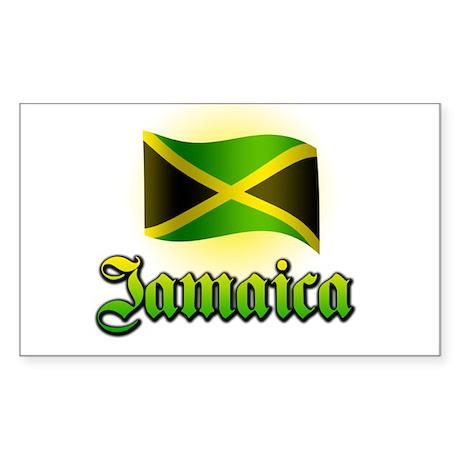 Jamaica Rectangle Sticker