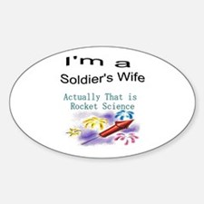I'm a soldier's wife Oval Decal