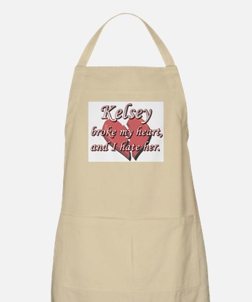 Kelsey broke my heart and I hate her BBQ Apron