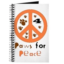 Paws for Peace Orange Journal