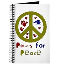 Paws for Peace Olive Journal