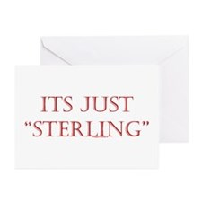 """Just """"Sterling"""" Greeting Cards (Pk of 20)"""
