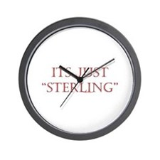 """Just """"Sterling"""" Wall Clock"""