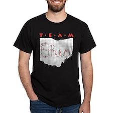 Black Team Ohio T-Shirt