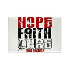 HOPE FAITH CURE Melanoma Rectangle Magnet