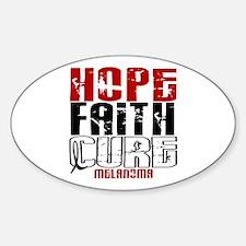 HOPE FAITH CURE Melanoma Oval Decal