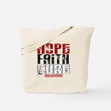 HOPE FAITH CURE Melanoma Tote Bag