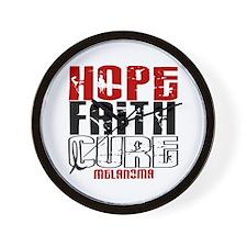 HOPE FAITH CURE Melanoma Wall Clock