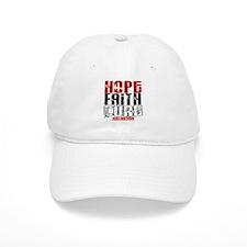 HOPE FAITH CURE Melanoma Baseball Cap