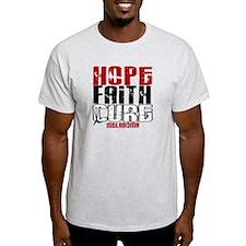 HOPE FAITH CURE Melanoma T-Shirt