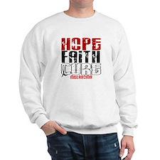 HOPE FAITH CURE Melanoma Sweatshirt