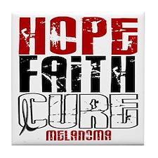 HOPE FAITH CURE Melanoma Tile Coaster