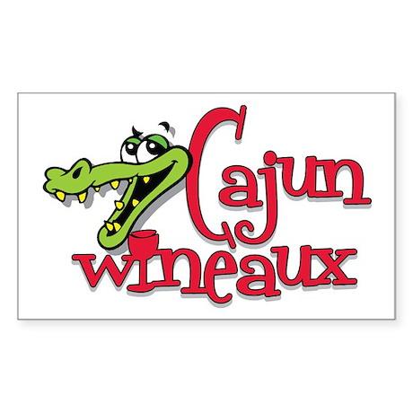 Cajun Wineaux gator Rectangle Sticker
