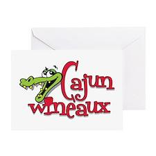 Cajun Wineaux gator Greeting Card