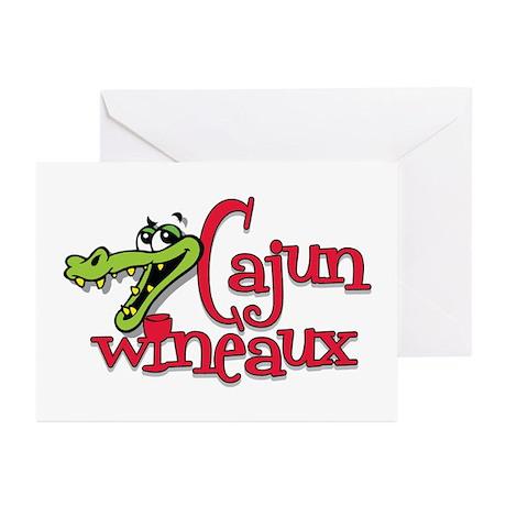 Cajun Wineaux gator Greeting Cards (Pk of 10)