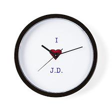 Heart J.D. Wall Clock