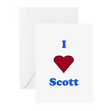 Heart Scott Greeting Cards (Pk of 20)