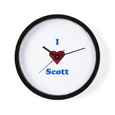 Heart Scott Wall Clock