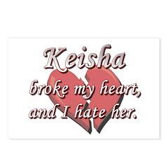 Keisha broke my heart and I hate her Postcards (Pa