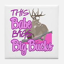 This Babe Bags Big Bucks Tile Coaster