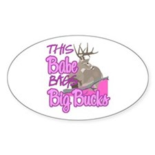 This Babe Bags Big Bucks Decal