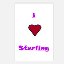 Heart Sterling Postcards (Package of 8)