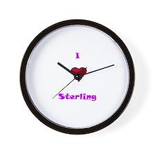 Heart Sterling Wall Clock