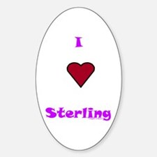 Heart Sterling Oval Decal