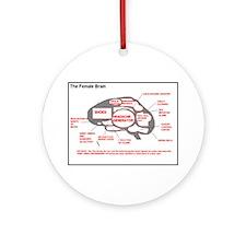 Neurology The Female Brain Ornament (Round)