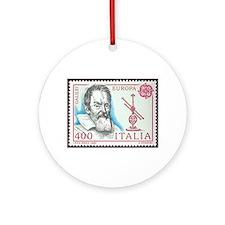 Galileo 1984 Stamp Ornament (Round)