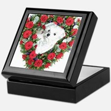 Funny Maltese puppy Keepsake Box