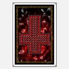 Upside Down Knot Cross ~ Evil Banner