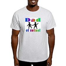 Dad of Twins! Ash Grey T-Shirt