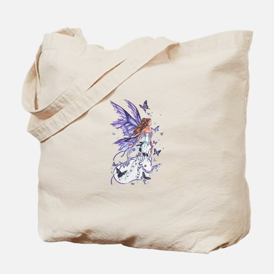 Purple Butterfly Fairy Tote Bag