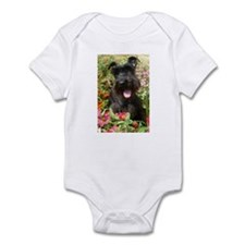 Black Miniature Schnauzer Infant Bodysuit