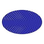 Blue Waves Oval Sticker